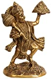 Shri Hanumanji Carrying Sanjeevani Mountain - Brass Statue