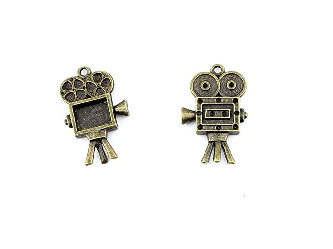 b28374 Proyector antiguo bronce antiguo joyería Making charms ...