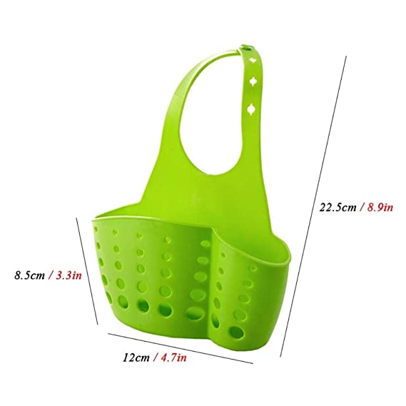 Amazon.com: Kitchen Sponge Drain Holder Sink Sponge Storage Basket Kitchen Tools Rack Bathroom Organizer Soap Shelf Hanging Basket (Blue): Kitchen & Dining