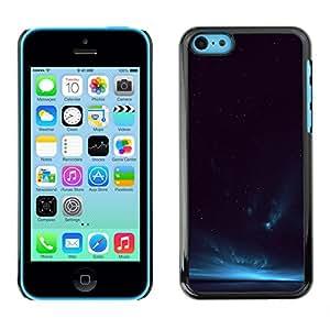 X-ray Impreso colorido protector duro espalda Funda piel de Shell para Apple iPhone 5C - Cosmos Universe Sky Night Horizon Deep