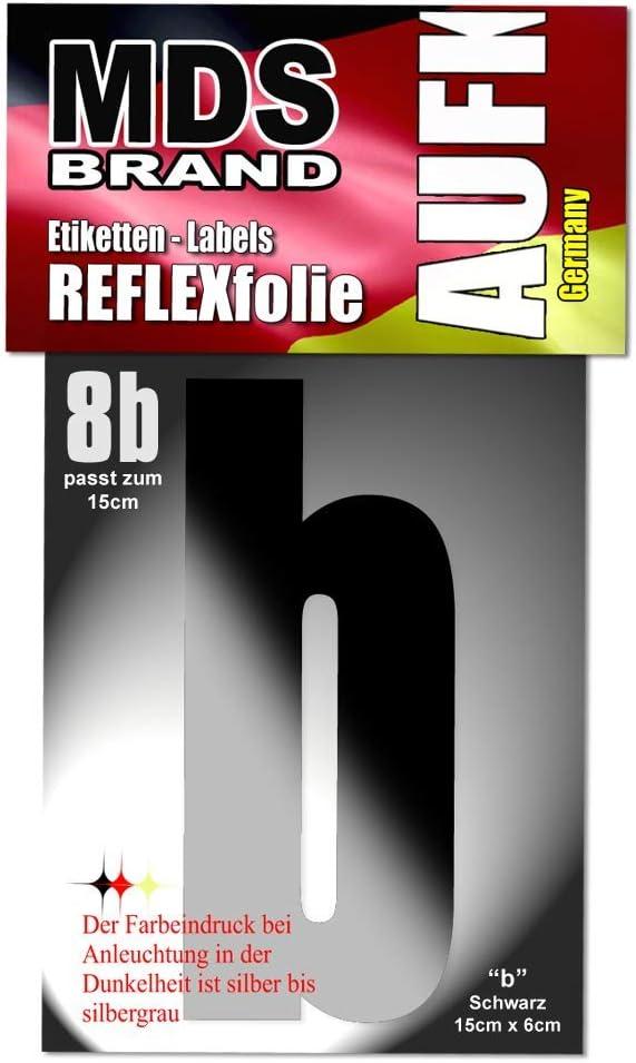 3 15cm Reflektierende aufkleber Ideal f/ür Hausnummer /& Briefkasten LKW