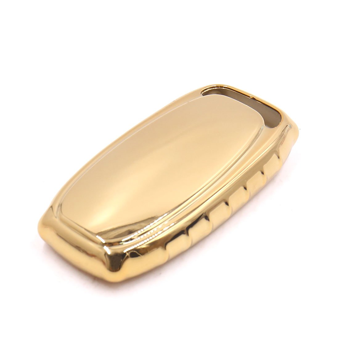 uxcell Gold Tone Remote Key Case Holder Shell Cover Fit For Audi A4L A6L A7 A8 S5 by uxcell