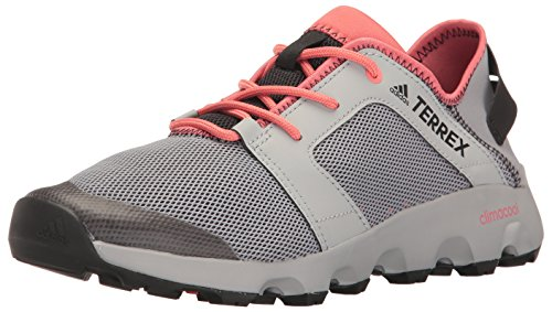 adidas Outdoor Women's Terrex Climacool Voyager Sleek Water Shoe, Grey/Black/Tactile Pink, 7.5 M US
