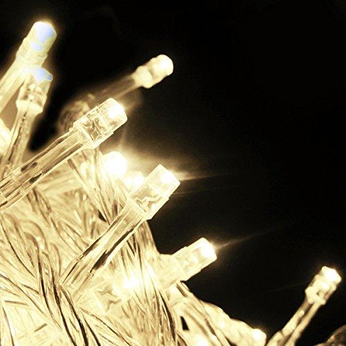 Salcar® LED Lichterkette (10m) mit 100 LED-Lämpchen, Dekoration für Festen (Warmweiß)
