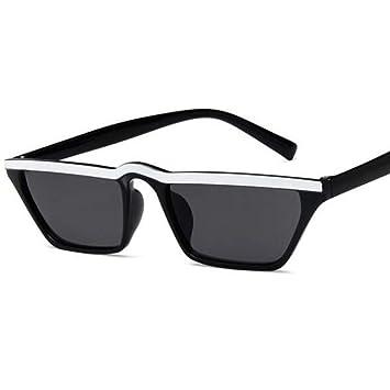 KCJKXC Gafas Blancas Vintage Eye Sunglasses Mujer Marca ...