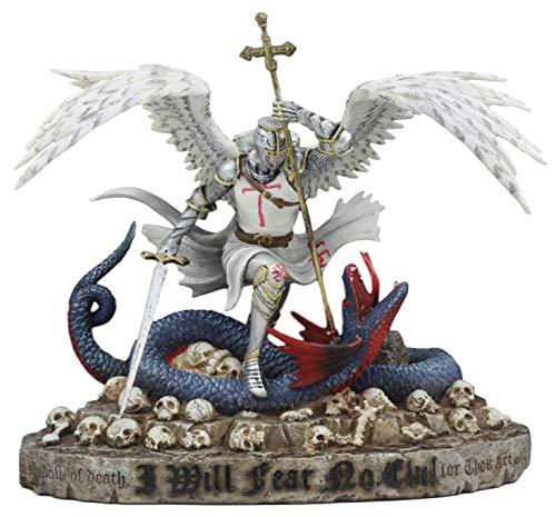 Ebros Large Dramatic Saint George The Dragon Slayer Statue 10