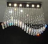 Cheap Siljoy Wave Design Modern Chandelier Rain Drop Lighting Crystal Ball Fixture Dining Ceiling Lamp 40″W by 40″H