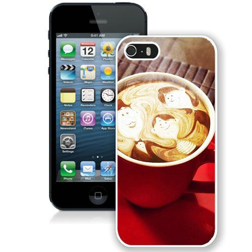 Coque,Fashion Coque iphone 5S Family In Coffee Foam blanc Screen Cover Case Cover Fashion and Hot Sale Design