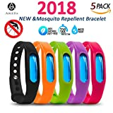 Mosquito Repellent Bracelet For Kids, Adults & Pets - Travel Insect Repellent Design For Maximum Protection Against Bugs, Pests, Waterproof - 5 Pack (Multi Color 2)