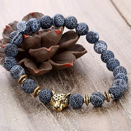 Hotdog Lava Chakra Bracelet Meditation Healing Yoga Braided Rope Bead Bracelet