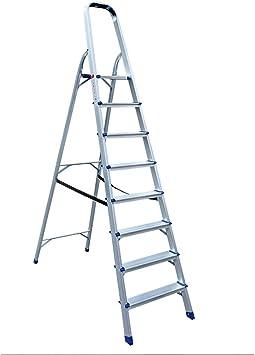 Keinode Escalera de 2 peldaños de aluminio escalera seguridad antideslizante peldaños herramientas ligero plegable marco DIY EN131 probado y certificado: Amazon.es: Bricolaje y herramientas