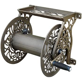 Attirant Liberty Garden Products 704 Decorative Cast Aluminum Wall Mount Garden Hose  Reel, Holds 125
