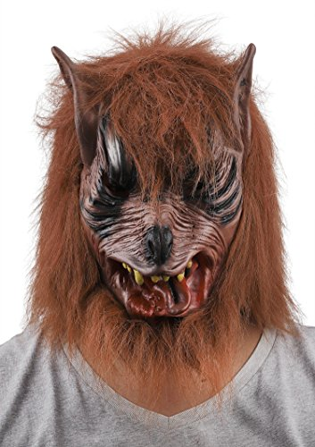 Wolf Halloween Mask Animal Werewolf Masquerade Haunted Prop Head Mask Cosplay -