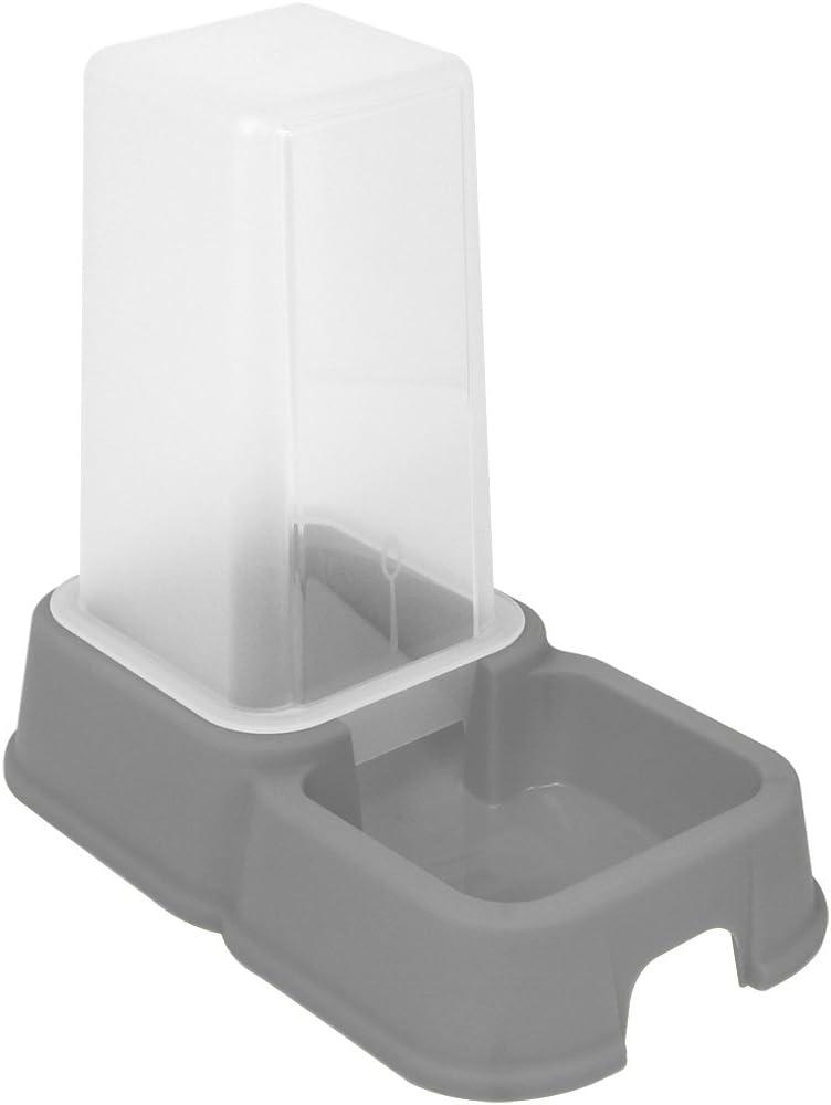 com-four/® dispensador 2X para Alimentos y Agua para Mascotas 1.5 litros 02 Piezas - dispensador de alimento Colorido Recipiente autom/ático para Alimentos Perros y Gatos 26.2 x 24 x 15.4 cm