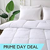 DECROOM Clearance Sale,White Comforter King Size,Down Alternative Quilted Duvet Insert,3M Moisture-wicking Treament,Light Weight Soft and Hypoallergenic for All Season