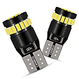 2012 Ford Fusion License Plate Light Bulbs - AUXITO Super Bright LED Bulbs 168 175 194 2825 W5W T10 24-SMD 3014 Chipsets 6000K White for Car Dome Map Door Courtesy License Plate Lights Pack of 2