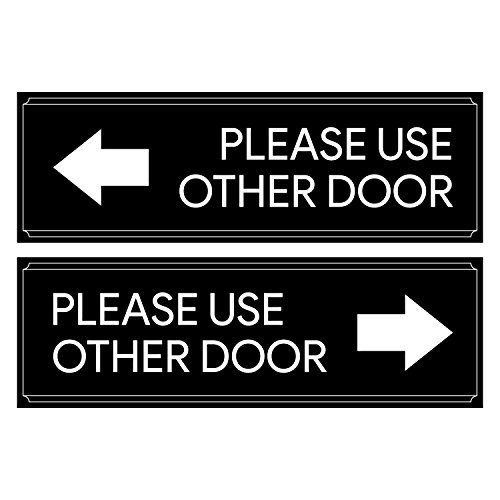 Please Use Other Door Sticker Decal Set - Self Adhesive, Peel-Off, For Offices, Stores, ()