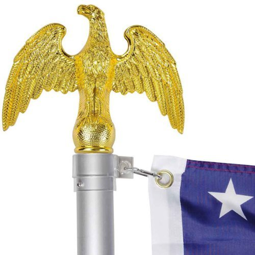 Gold Eagle Flag Pole Top Finial Topper Ornament Handcrafted for sale  Delivered anywhere in USA