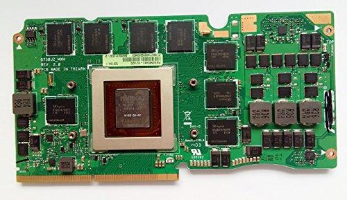 4G Laptop VGA Graphic Card N15E-GX-A2 for Asus ROG G750J G750JS G750JZ GTX870M 4GB VGA Video Graphic Card Compatible 90NB04K1-R60010 nVIDIA GTX 870M GDDR5 (870 Graphics Card)