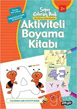 Aktiviteli Boyama Kitabi Ingilizce Alfabe Ve Sayilar