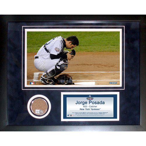 Yankee Framed Mini - Steiner Sports MLB New York Yankees Jorge Posada 11 x 14-inch Mini Dirt Collage