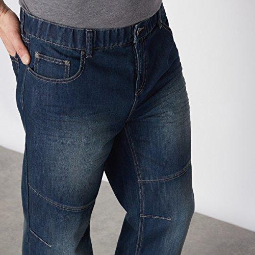 5 Men Dirty Taglio Jeans Grezzo Castaluna Uomo Tasche Elasticizzati Straight For 7vqw5ap0