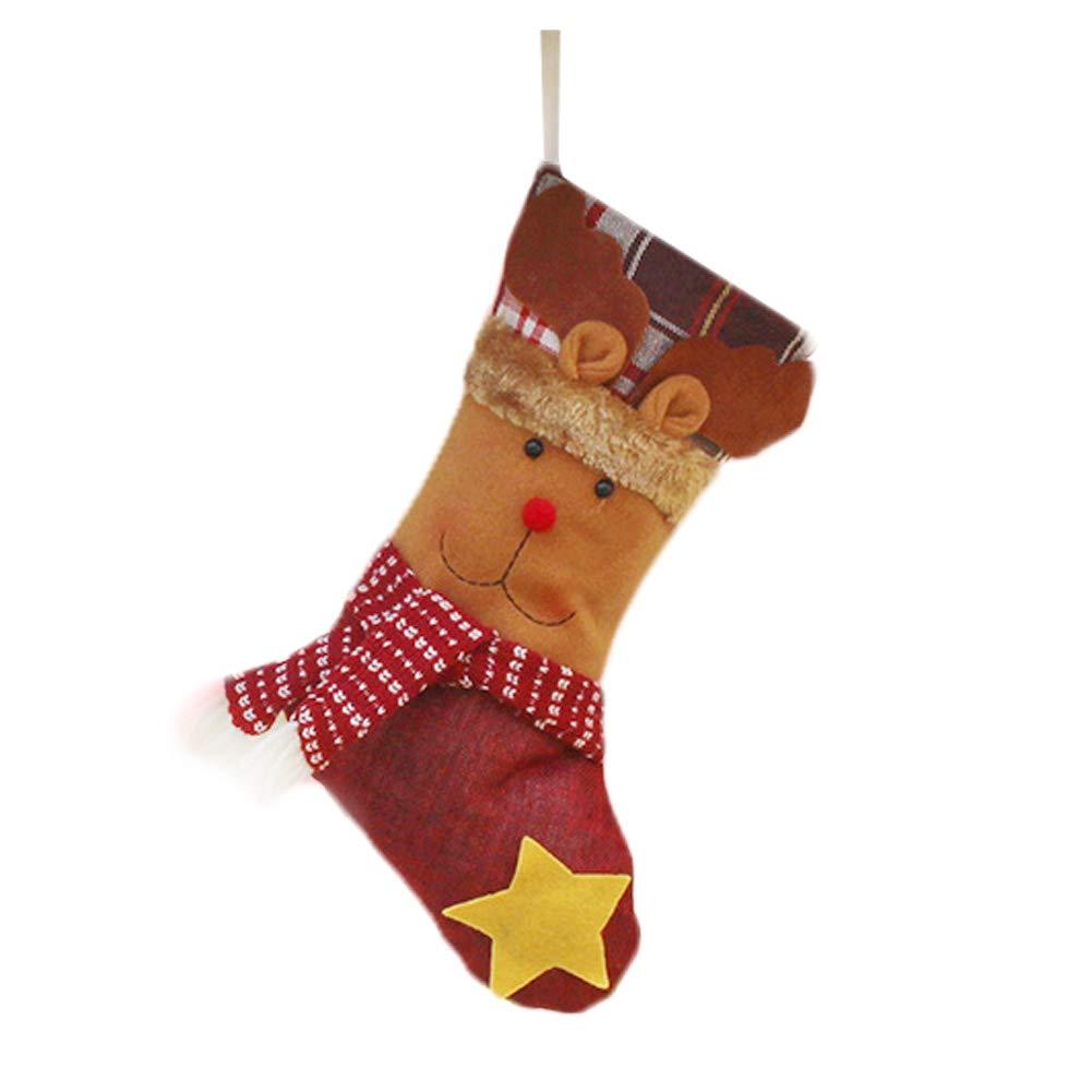 aloiness Medias de Navidad Calcetines de Navidad Chimenea para el Regalo del Bolso de azúcar decoración del árbol de Navidad Fiesta de Navidad: Amazon.es: ...