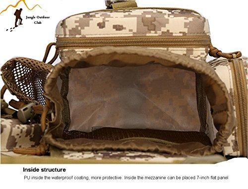 Jungle Oxford Small Saddle Bag Satteltasche Schultertasche Kamera Tasche MOLLE TACTICAL Taschen Wild Tasche Wandern Klettern Radfahren BBQ Runner Rucksack tragbar, ACU Digital