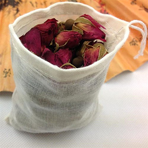FidgetGear 10/100 Pack Cotton Muslin Drawstring Bags Soap Herbs Tea Reusable Packing Bath 10''x12'' 100 by FidgetGear (Image #3)