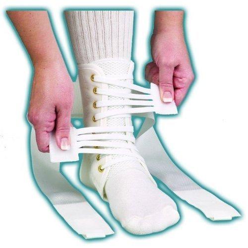 ASO Speed Lacer Ankle Brace (Medium – White) by Medspec/ASO Braces