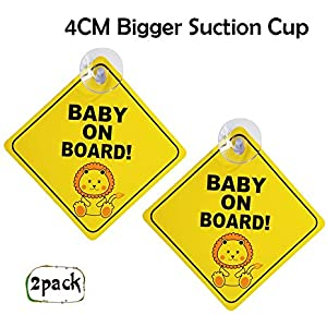 Personalised Grandsons 3 Black Star Shaped Baby On Board Car Sign ~ New!