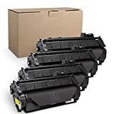Qualifiedgoods Compatible Toner Cartridge Replacement for HP 2035 HP 05A CE505A HP Laserjet P2055DN P2035N P2055D P2055X Laserjet P2055 P2035 P2030 P205 2035 2055 (Black) 4-Pack