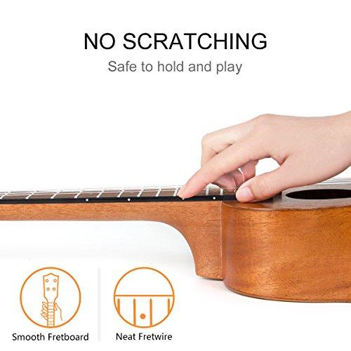 Ukulele Soprano Mahogany 21 Inch Ukelele Uke With Beginner Kit ( Gig Bag Tuner Strap String Instruction Booklet ) - Image 5
