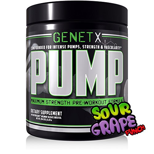GenetX #1 Nitric oxide Pre workout. Two stage caffeine release, Creatine Free, Sour Grape Punch, 30 servings