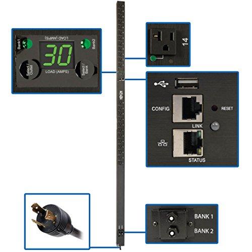 Tripp Lite PDU Switched 2.9kW 120V 30A 24 5-15/20R L5-30P Plug LX Platform Interface 0URM TAA (PDUMVR30NETLX)