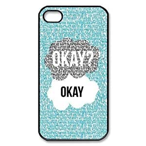 New Style Season.C-Custom The Fault In Our Stars Back Cover Case for iPhone 4/4S (Black) 5401161M22815776 WANGJING JINDA