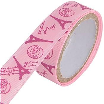Patrón eDealMax Torre Eiffel Scrapbooking DIY de artesanía decorativa Cinta adhesiva Rollo rosa