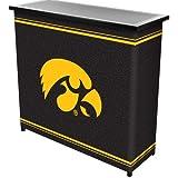 NCAA University Of Iowa Two Shelf Portable Bar With Case