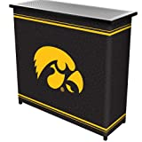 NCAA University of Iowa Two Shelf Portable Bar with Case