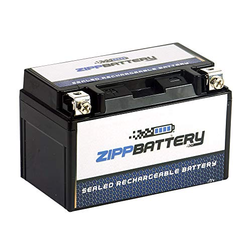 (Rechargeable YTZ10S-BS High Performance Motorcycle Battery - Maintenance Free - Replacement Sealed AGM)
