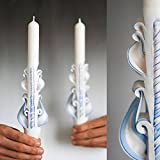 Valentine day gift, taper carved candles for unique and unusual Home Decor and for gifts, small size from Primacandle