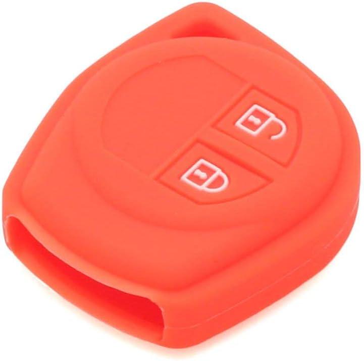 Muchkey Cl/é De Voiture Cl/é En Silicone Shell Shell Key Case Peau Veste Fit Pour 2 Bouton /À Distance Cl/é Avec Orange Silicone Couverture De Protection