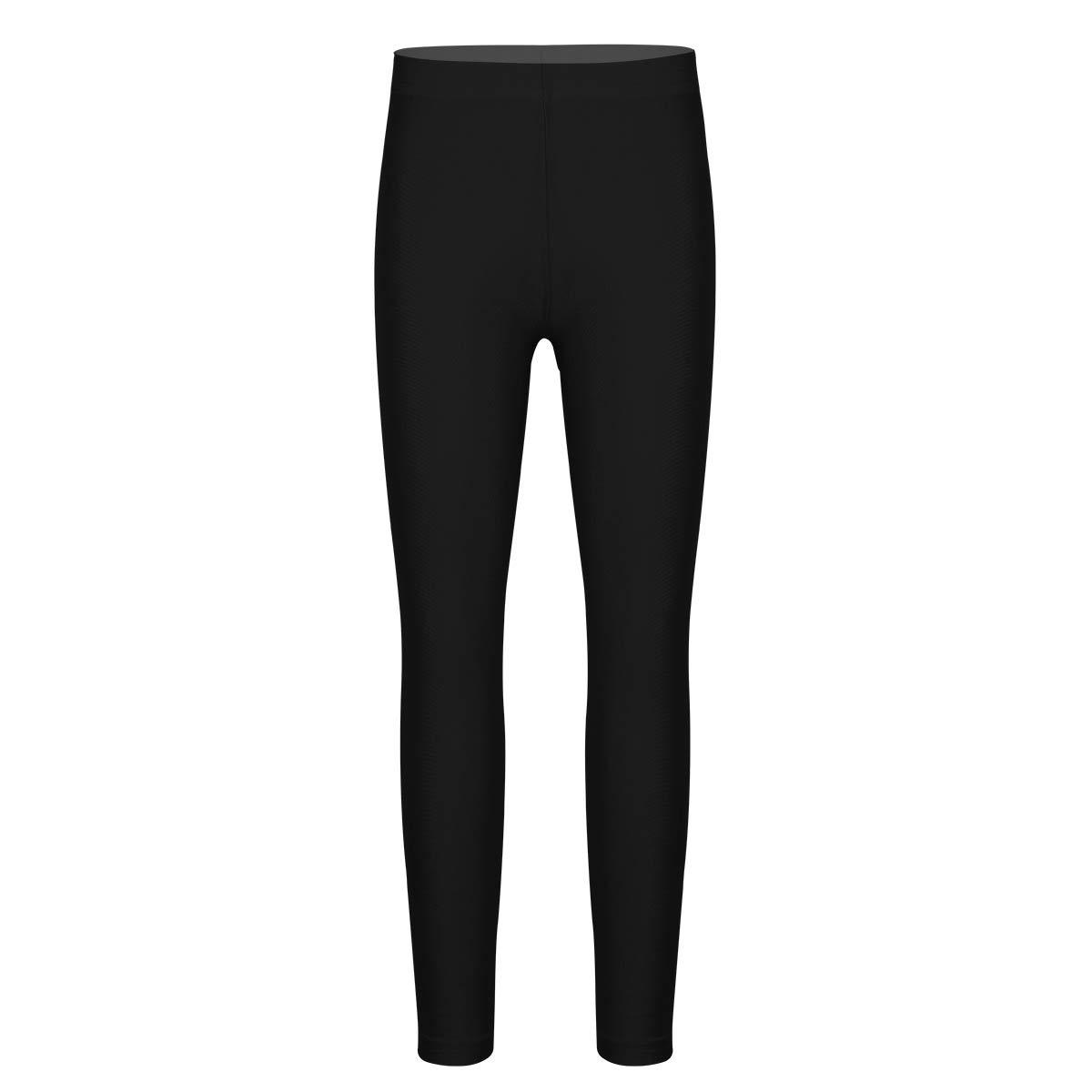 iEFiEL Boys Girls Stretchy Dance Tights Comfort Leggings Pants Yoga Gymnastics Ballet Stirrup Pantyhose for Kids Black Ankle Length 6-7