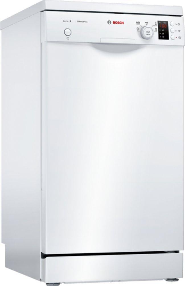 Bosch Serie 2 SPS25CW03E lavavajilla Independiente 9 cubiertos A+ - Lavavajillas (Independiente, Estrecho (45 cm), Blanco, Blanco, Giratorio, 1,75 m)