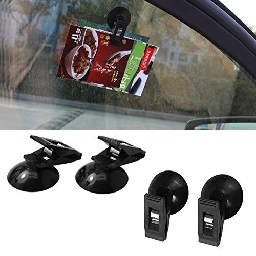 Cozywind 2 Multi-Purpose Car Convenient Glasses Card Paper Clips Car Suction Cup Clips