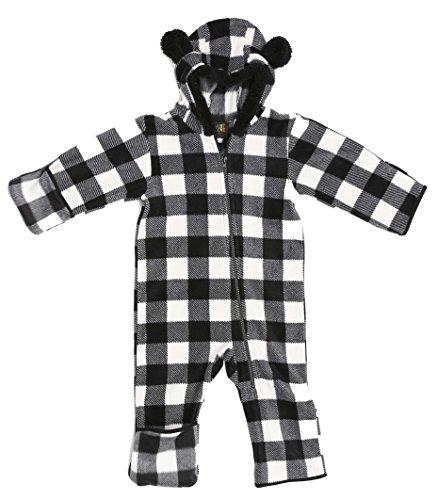 Outerwear Infant (Just Love 87001-BLKWHT-6-9M Baby Girls Fleece Pram)
