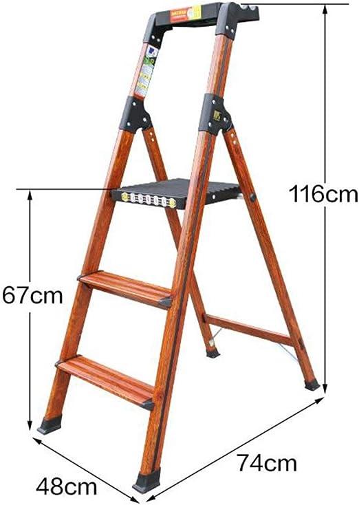 Escalera plegable, escalera de aluminio de 3 escalones/4 escalones, escaleras plegables, escalera de cocina doméstica, escalera multiusos con alfombrilla antideslizante y banco de trabajo plegable: Amazon.es: Bricolaje y herramientas