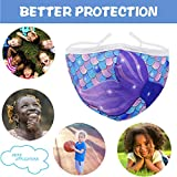 Mermaid Washable Kids Face Mask with Adjustable Ear