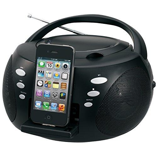 Jensen JISS120I Audio CD Boombox with iPhone Dock