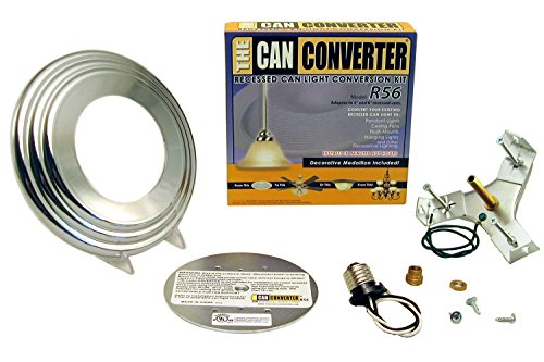 The Can Converter R56 Polished Chrome Recessed Can Light Conversion Kit for 5